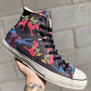 Converse Dia De Los Muertos Mens Hi Top Shoes 9.5